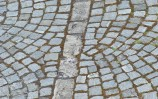 Cobbled street pattern